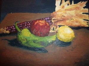 Still life, purely palette knife©